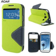 Original Roar Wallet Stand Flip Case for Samsung Galaxy S3 S4 S5 Mini S6 S7 Edge S8 S8 Plus Colorful Leather Phone Cover Bags