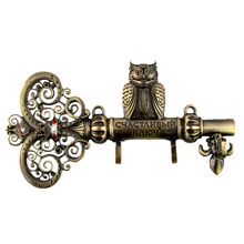 "Screw fixation,Wall Door Hook Hanger.living room & Kitchen vintage hook.""The key to happiness"" housekeeper.home decor of owl(China)"