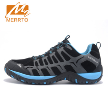 2017 Merrto Mens Walking Shoes Breathable Outdoor Sports Shoes For Male Light Weight Travel Shoes Free Shipping MT18607
