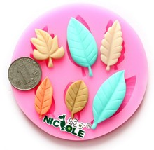 Silicone 3D Moulds Xmas Cookware fur leaf cute 9.7x9.7x1cm Non-Stick Cake Decor Fondant biscuit Mold soap chocolate Mould E57