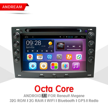 Octa Core 2G RAM 32G ROM Car DVD Player Stereo Android 7.1 Navigation BT For Renault Megane Steering Wheel Control EW890P8QH(China)