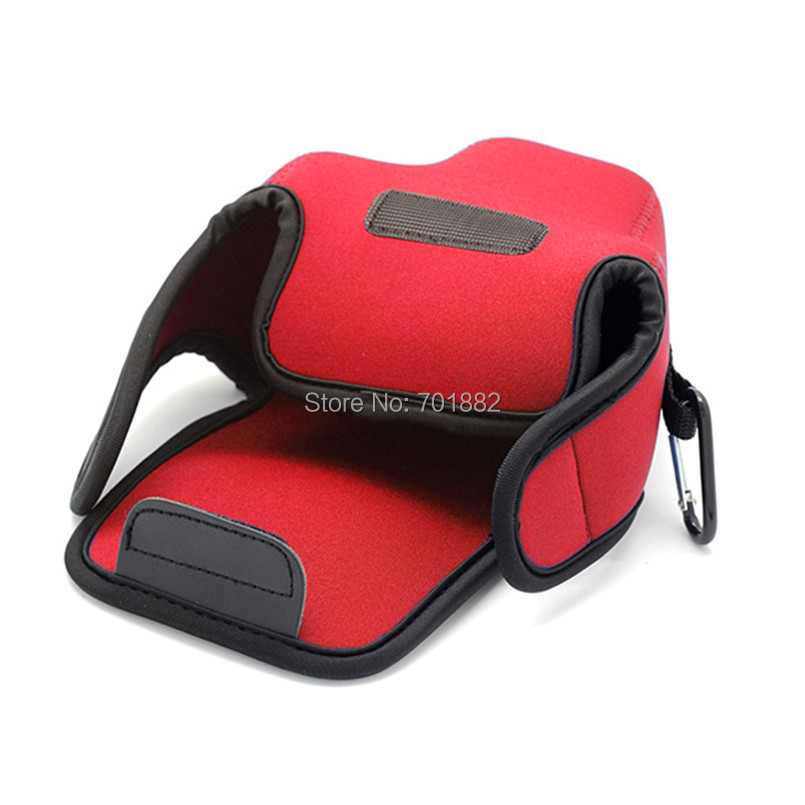 Neopine Camera lens bag for Canon EOS M50 red (5)