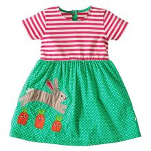 Girls Summer Dress 2018 Brand Striped Cotton Baby Unicorn Dress Princess Costume Children Vestidos Kids Dresses for Girls(China)