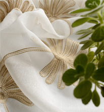 Beautifully embroidered flowers. High-end living room screens fabrics