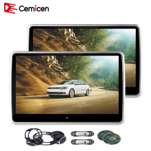 Cemicen 2PCS 10.1 Inch Touch Screen Car Headrest Monitor DVD Player USB/SD/IR/FM/Game TFT LCD Screen Player Remote Control(China)