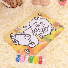 5pcs/lot 2017 Colorful DIY EVA cartoon animal sewing kit  Learning Education Toys For Kids puzzle Game
