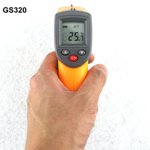 eletronic Digital IR Infrared Thermometer Laser GS320 Temperature Gun Tester Non-Contact Pyrometer C/F LCD Display for Industry(China)