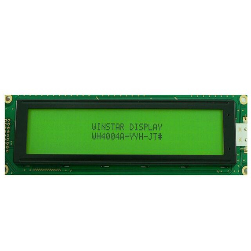 WH4004A WINSTAR 40x4 Character LCD display module 6800 4/8-bit parallel and power supply option green backlight new and original<br>