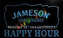 LA659- Jameson Irish Whiskey Happy Hour Bar  LED Neon Light Sign