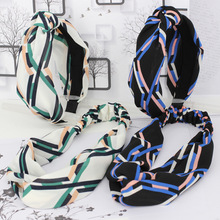 4pcs/lot Geometric Lines Elastic Headbands Colored Striped Hair Bands For Girls Fashion Summer Hair Accessories For Women