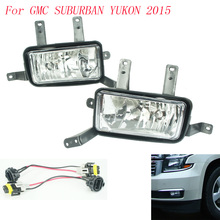 Fog light for GMC SUBURBAN YUKON 2015 fog lamps Clear Lens Bumper Fog Lights Driving Lamps / Daytime Running light   YC100585-CL