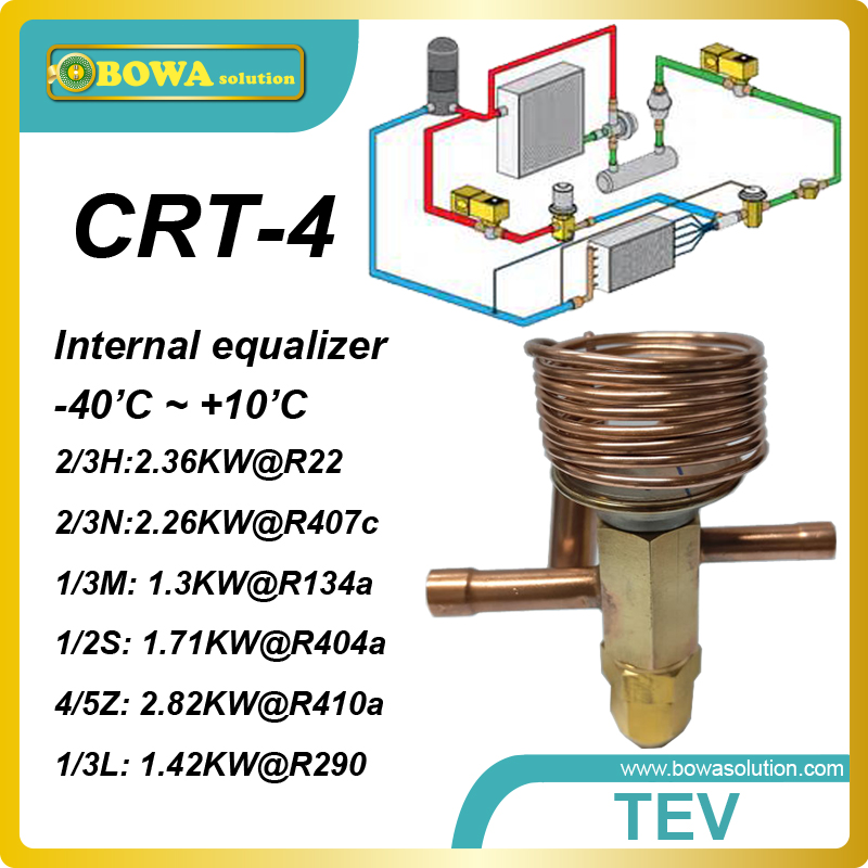 CRT-4 R407c cooling capacity integrated TX valve with solder connection working for refrigerated cabinet, it can be customized<br><br>Aliexpress