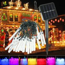 3.5 M 20 leds Ice Piton Shape LED Solar Garden String Lights Christmas Xmas Party Decorations Waterproof Solar Powered LED Lamp