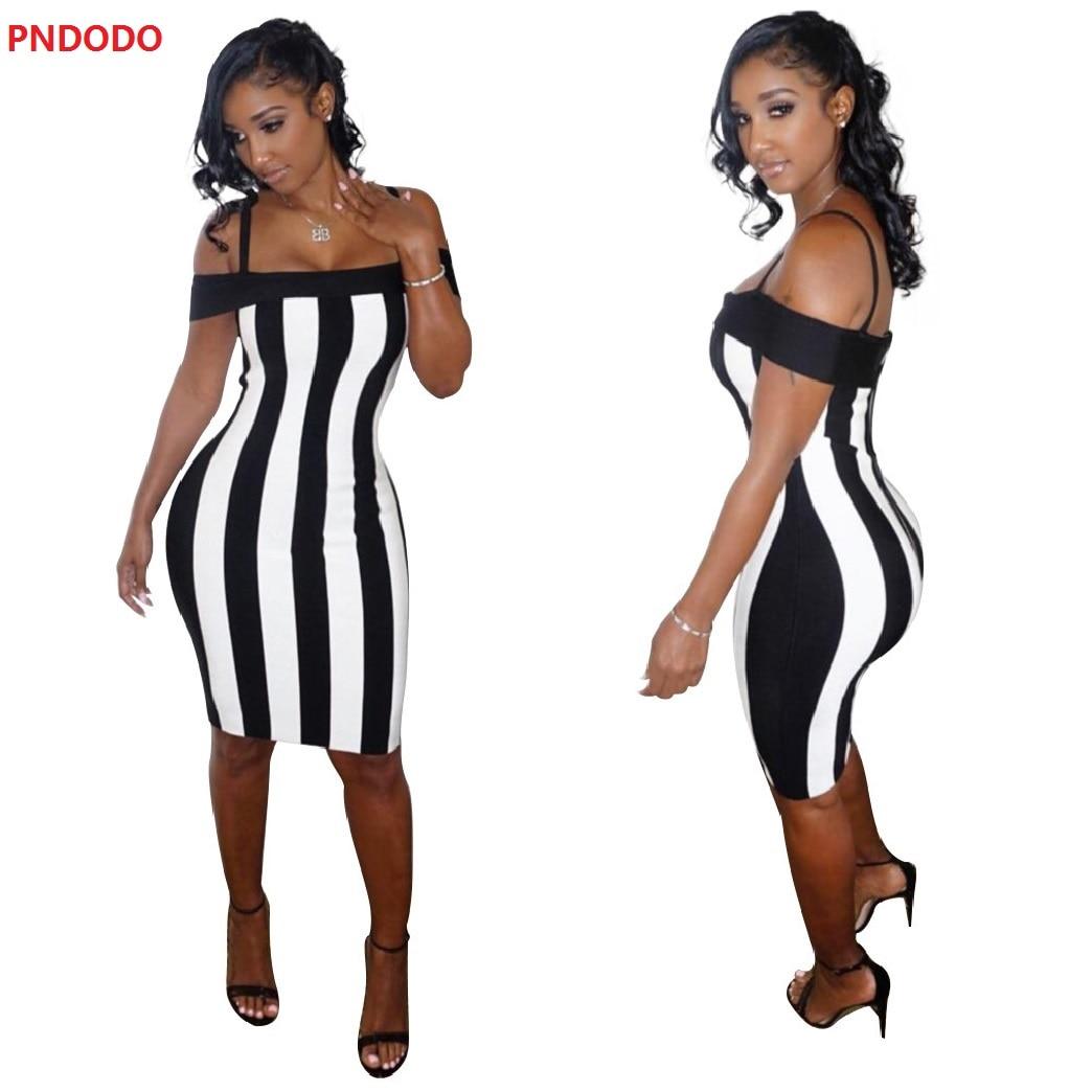 Sexy A-Line Mini Dresses 2017 Beach Dress Sleeveless Women Bodycon Sexy Summer Off Shoulder Striped Office Cotton Wrap Dresses