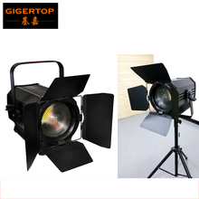 TIPTOP APOLLO 200W White Barndoor Led COB Fresnel Light Zoom Photography Video Studio Light White Color TV Led Spot Film Light(China)