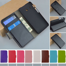 Original J&R Brand PU Leather Case Skin For Huawei Ascend Y320 Cover Flip Phone Bag with Card holder 9 colors(China)