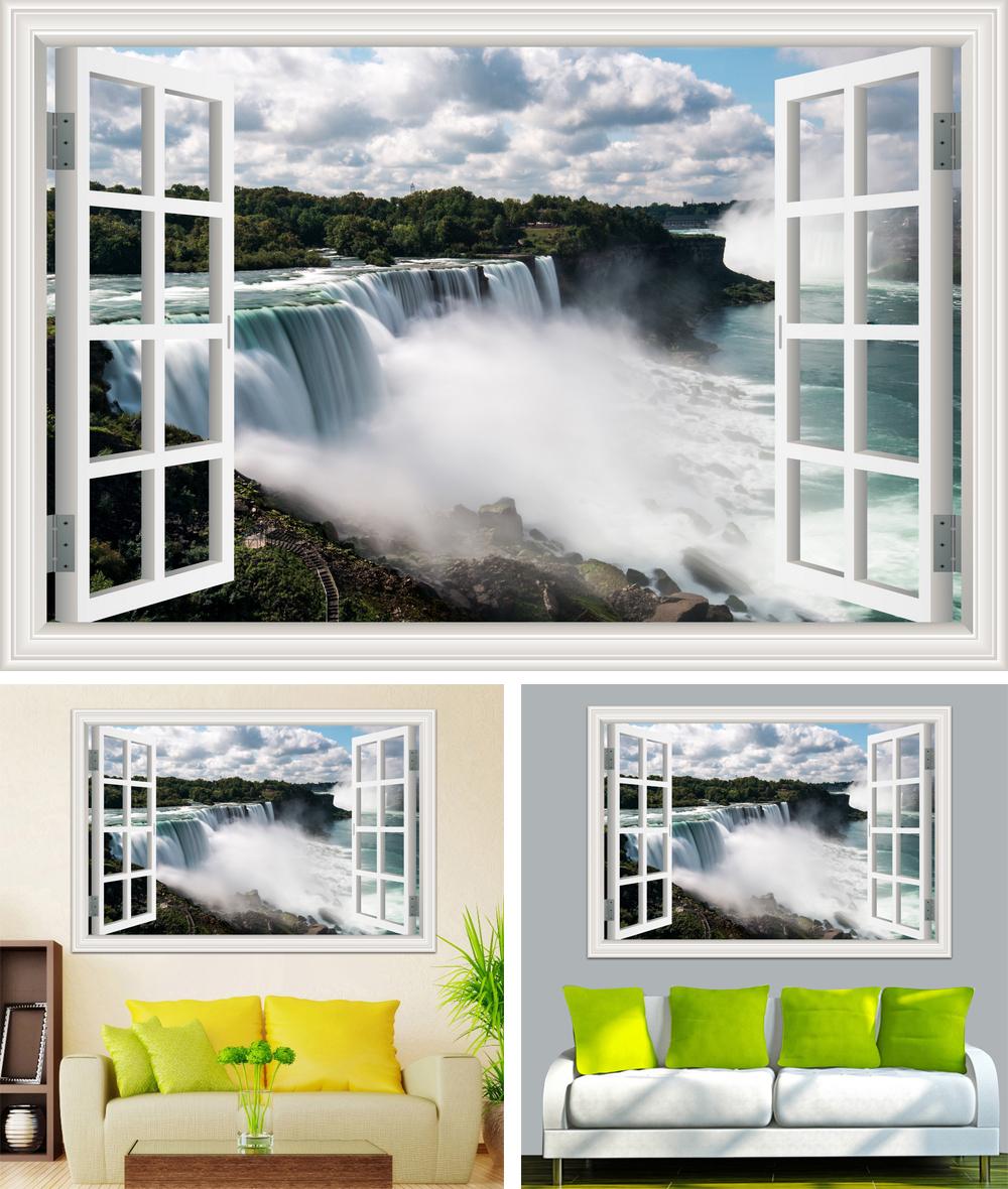HTB1Md cb7fb uJkHFNRq6A3vpXa9 - Waterfall 3D Window View Wallpaper Nature Landscape Wall Decals for Living Room