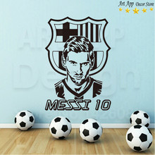 Good quality house decor new Art Design football Messi Vinyl Wall decals removable room decoration soccer lionel cheap sticker