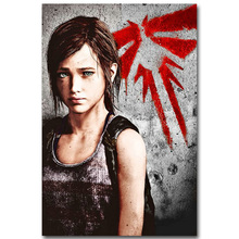 The Last Of Us Art Silk Fabric Poster Print 13x20 24x36 inch Vedio Game Pictures for Living Room Wall Decor Joel Ellie 004(China)