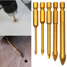 "5pcs 1/4"" Hex Shank Drill Bits for Ceramic Tile Marble Mirror Glass Power Tools 3/4/6/8/10mm(China)"