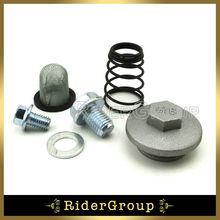 GY6 50cc 125 150cc Oil Strainer Cap Drain Plug Bolt Screen Seal Spring Scooter Moped ATV Quad