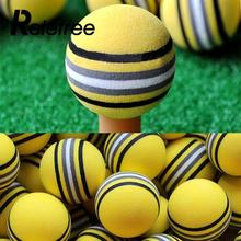 Relefree 50Pcs Bright Yellow Golf Sports Yellow Rainbow Sponge Balls Light Indoor Outdoor Training Practice Aid Foam Golf Balls