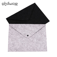 1PC A4 Document Bag Chemical Felt File Folder Durable Briefcase Document Bag Filing Products Carpetas Stationery School Supplies(China)