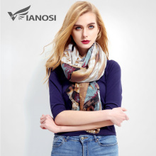 [VIANOSI] Newest Design Women Scarf Luxury Brand Foulard Femme Fashion bandana Print Cotton Scarf Women Scarves Sjaal VR001(China)