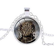 Game of Throne Logo Dragon Necklace Pendant Lion Wolf John Snow Nine Family Necklace Jewelry Silver Plated Chains ras de cou(China)