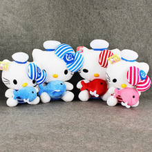 32cm/40cm 2Pcs/Lot 2Styles Anime Hello Kitty Plush Toys Kawaii KT Hug Cute Fish Soft Stuff Animal Plush Dolls Kids XMAS Gifts(China)
