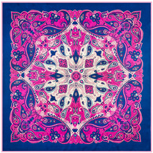 [AETRENDS] Ladies Silk Head Scarves 2017 Fashion Women Wrap Square Silk Scarf 100CM X 100CM Bandana Neckerchief W105