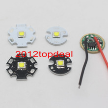 Cree XML2 XM-L2 T6 10W High Power LED Emitter Cool White 12mm 14mm 16mm 20mm Black or White PCB + DC3.7V 2.5A Driver