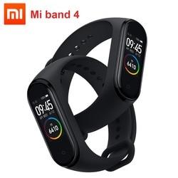 2019 Xiaomi Mi смарт-браслет 4, умный Браслет miband 4 Браслет фитнес-трекер сердечного ритма 0,95