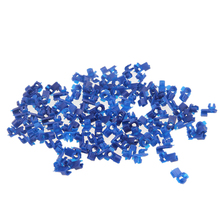 Blue 100x Door Bumper Fender Cover Automotive Fastener Plastic Auto Trim Clip Rivet Auto Fasteners For Toyota Ford VW BMW Audi