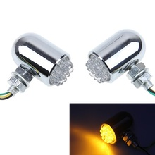 1Pair Chrome Motocross Motorcycle Turn Signal Light Lamp Dirt Bike Scooter Blinker Indicators Universal For Suzuki Intruder 750(China)