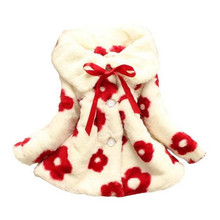 fashion girls winter coat jacket children's clothing small sunflowers fur snowsuit children outwear for -5Y