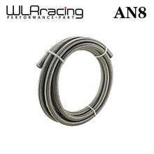 "WLRING STORE- AN8 8AN AN-8 (11.2MM / 7/16"" ID) High Quliaty Stainless Braided Dry Sump Fuel oil line Water WLR7113"