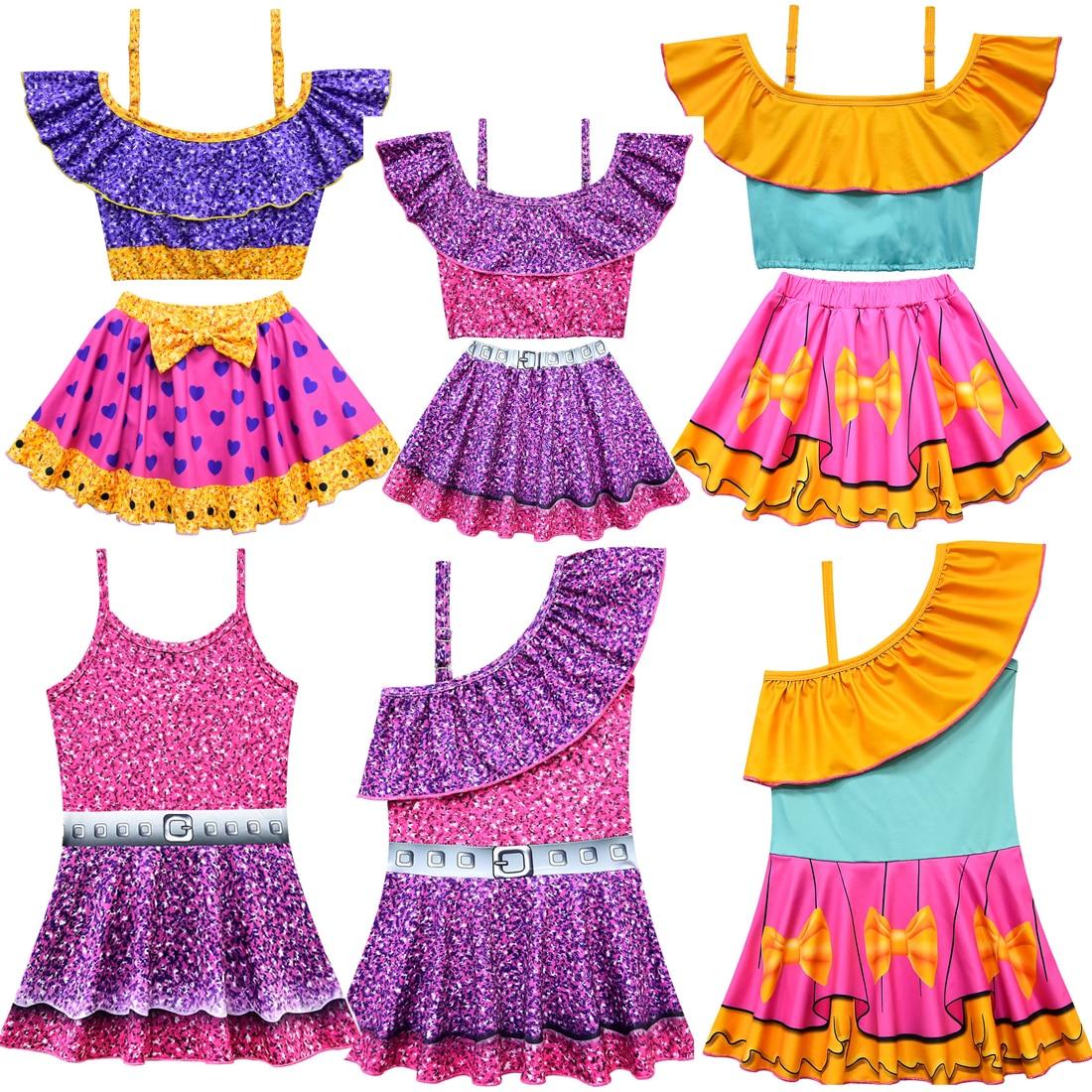Summer Boutique Costume da Bagno Estivo per Spiaggia 3 Design Bikini Set Ballerina Vacanza Costume da Bagno Moana per Bambine