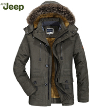 AFS JEEP men and casual long-sleeved warm cotton jacket warm fashion men's comfortable large size men's winter coat 4 colors 188