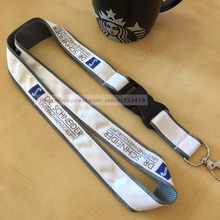 300pcs/Lot custom made cell phone Lanyards printed your brand logo with free shipping DHL Wholesale(China)