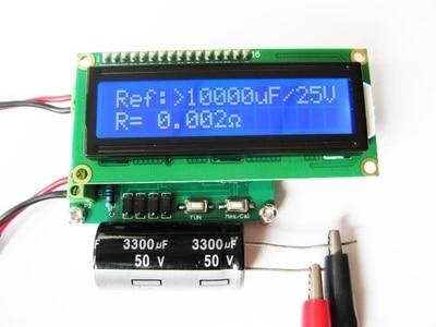 ESR capacitor line detector tester ESR table + milliohmmeter<br>