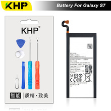 NEW 2017 100% Original KHP EB-BG930ABE Phone Battery For Samsung Galaxy S7 G930F G9300 G930 Battery Replacement Mobile Battery(China)