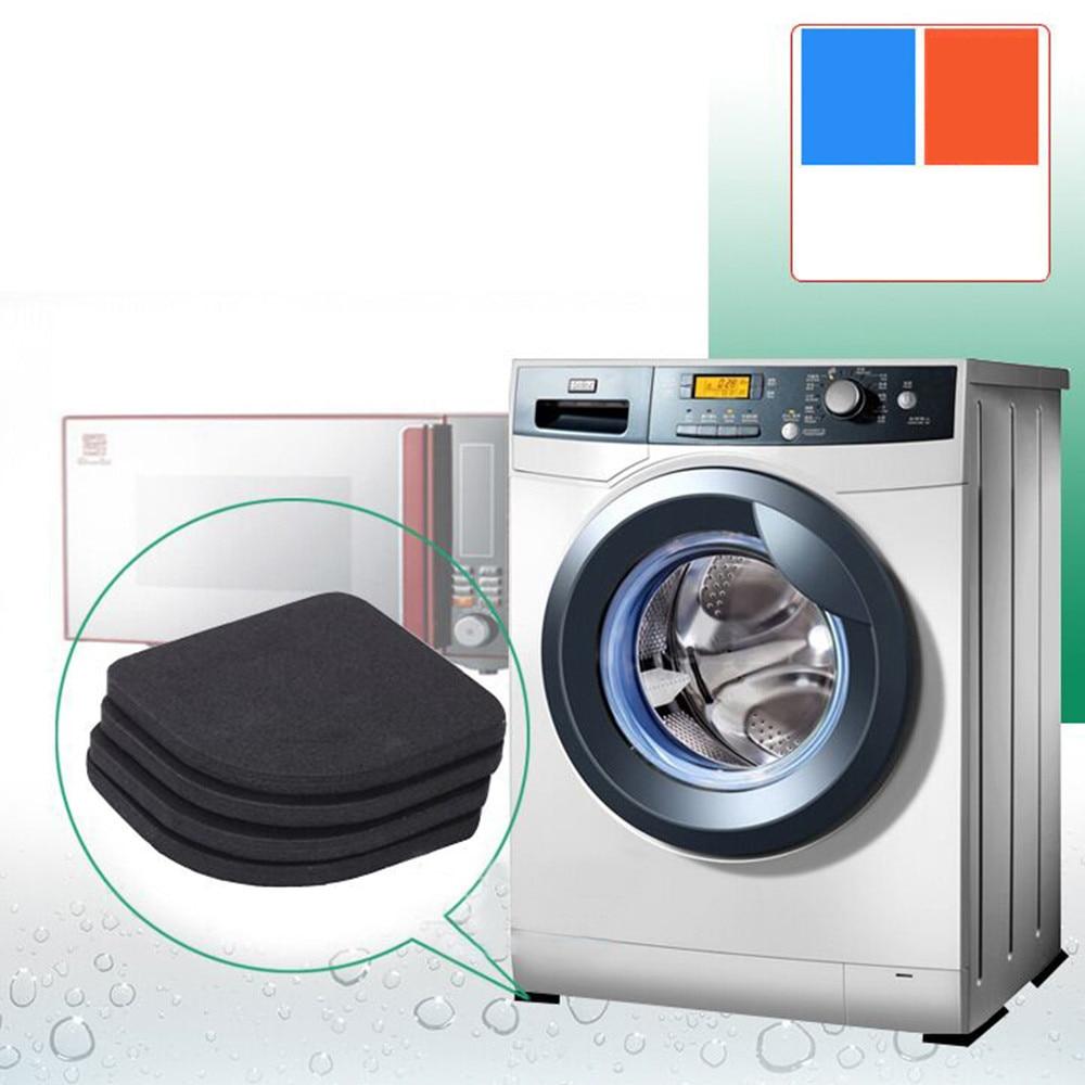 Bathroom Fixtures 4pcs Multifunctional Refrigerator Washing Machine Anti-vibration Pad Mat