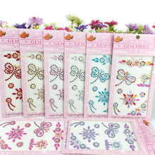 Kid Cartoon Dragonfly Motif Rhinestones Sticker DIY Hand Making Accessories for Phone Nails Bags Decoration