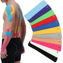 2pcs 10inch Kinesiology Elastic Pre-Cut Strip Adhesive Sports Tape Wrist Shoulder Pain Relief Muscle tape elbow knee pads