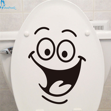 OnnPnnQ Smile face Toilet stickers diy personalized furniture decoration wall decals fridge washing machine sticker Bathroom Car