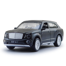 Hot 1:32 scale diecast cars simulation Bentley EXP 9F open door model pull back alloy metal toy with flashing & sound Collection
