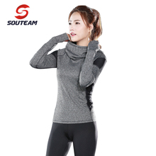 SOUTEAM Brand Yoga Jacket For Women Breathable Quick Dry Comfortable Women Sports Clothing New Style Sports  #S16C03