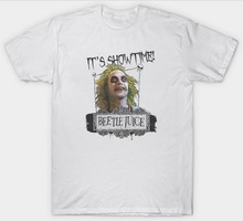 OKOUFEN Beetlejuice Showtime Classic Cult Film Movie 1980'S Short Sleeve Men Zomer Crew Neck T Shirts