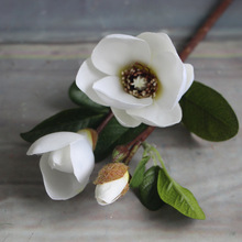 36 cm White Pink Magnolia Silk Flower Artificial Plants Craft Home Christmas Wedding Decoration Garden Decors